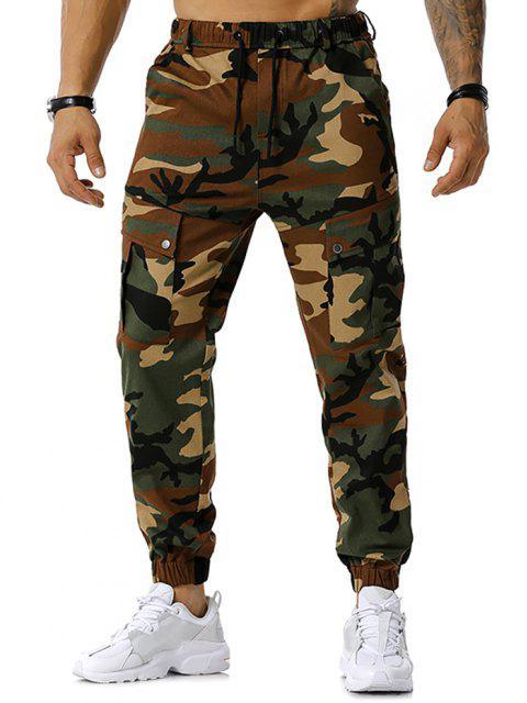 Camouflagedruck Tunnelzug Cargo Hose - Armeegrün XXL Mobile