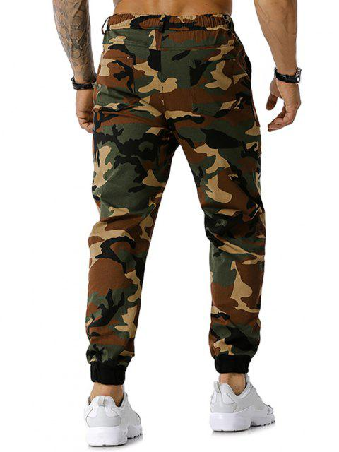 Camouflagedruck Tunnelzug Cargo Hose - Armeegrün XL Mobile