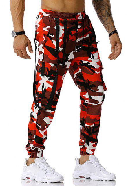 Pantalones Diseño Camuflaje Militar - Rojo XXXL Mobile