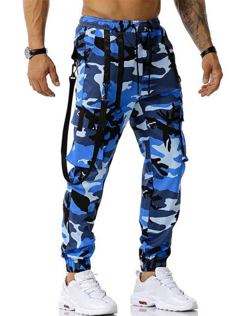 Pantalones Diseño Camuflaje Militar - Azul L Mobile