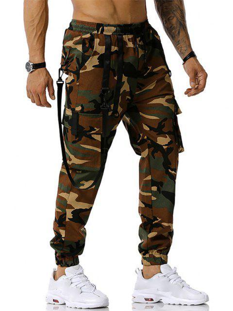 Camouflagedruck Haken Gurt Cargo Hose - Armeegrün XL Mobile