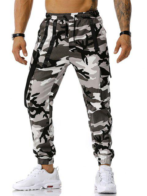 Pantalones Diseño Camuflaje Militar - Gris L Mobile