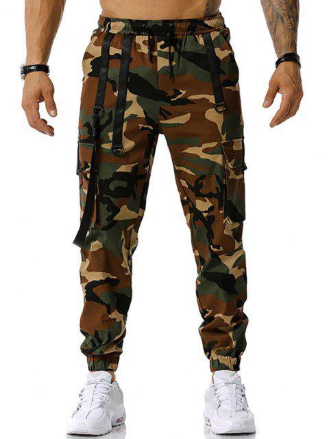 Camouflagedruck Haken Gurt Cargo Hose - Armeegrün XXXL Mobile