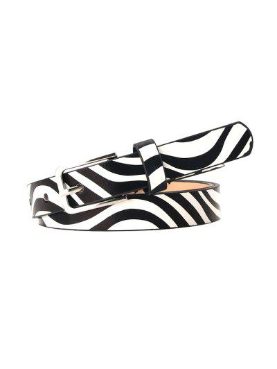 Animal Print Pin Buckle Belt - Black