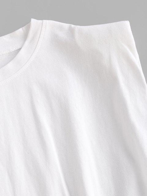 Débardeur de Sport Simple Muscle à Epaule Matelassée - Blanc L Mobile