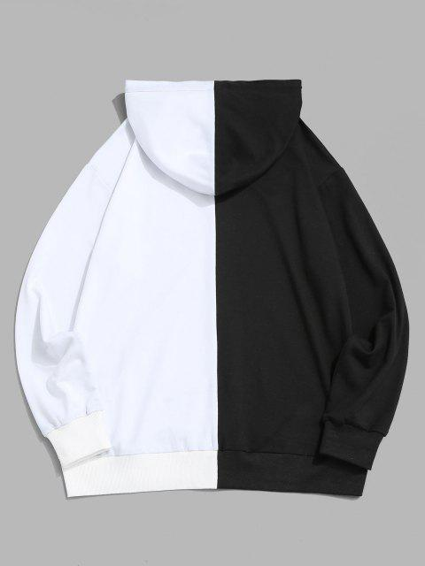women Rose Two Tone Hoodie - WHITE L Mobile
