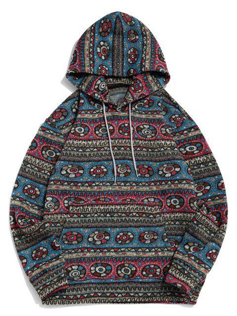 Tribal Geometrische Muster Vlies Hoodie - Multi 3XL Mobile