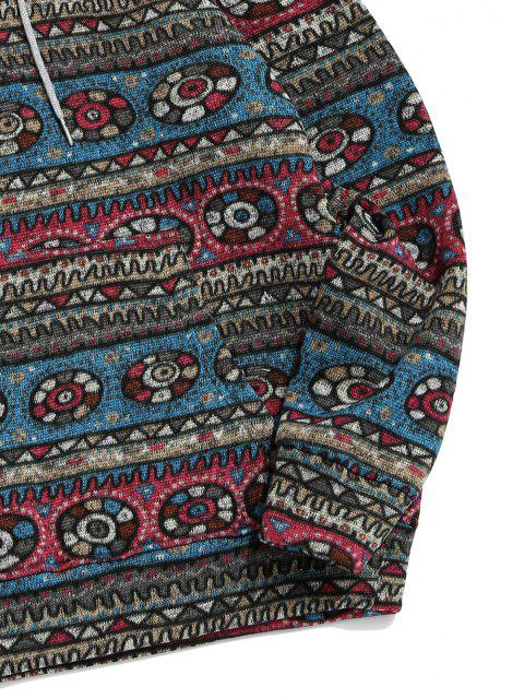 outfit Tribal Geometric Pattern Fleece Hoodie - MULTI S Mobile