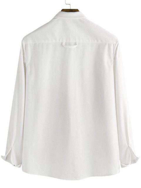 outfit Button Up Corduroy Pocket Shirt - WHITE 3XL Mobile