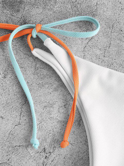 ZAFUL Strukturiertes Bikini mit Kontraststreifen - Weiß M Mobile