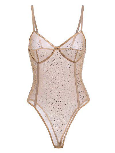 Body Lingerie en Maille Transparente avec Strass Body Lingerie en Maille Transparente avec Strass