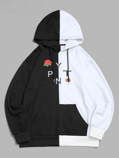 Rose Two Tone Hoodie - White 3xl