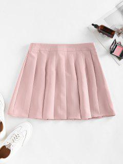ZAFUL High Waist Pleated Mini Skirt - Pink M