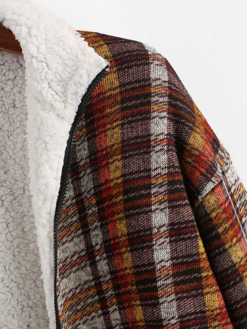 Veste en Tricot Doublée à Motif Tribal - Café profond XL Mobile