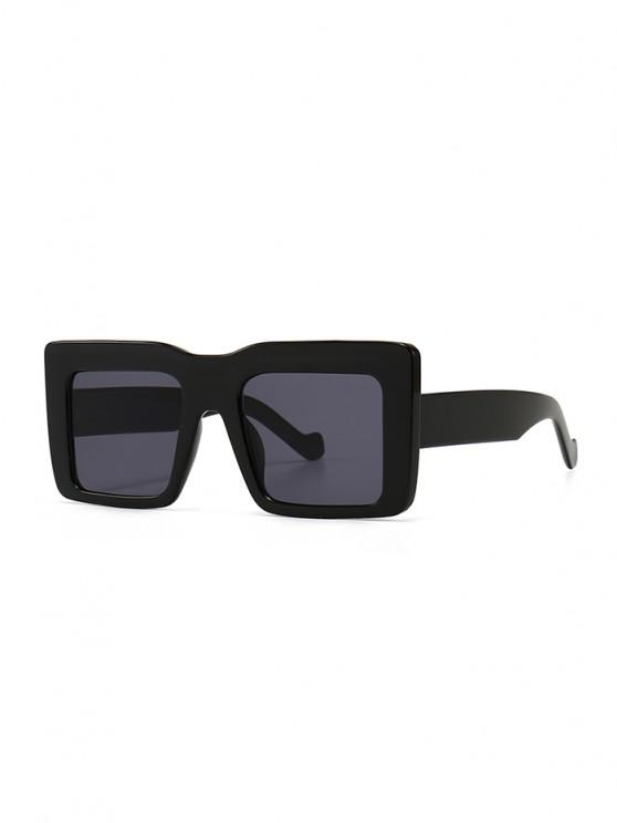 best Retro Wide Frame Square Sunglasses - BLACK
