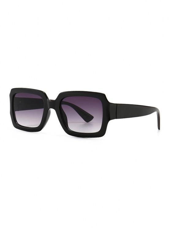 Retro Gradient Rectangle Sunglasses - أسود
