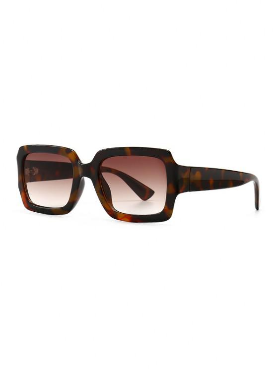 hot Retro Gradient Rectangle Sunglasses - LEOPARD