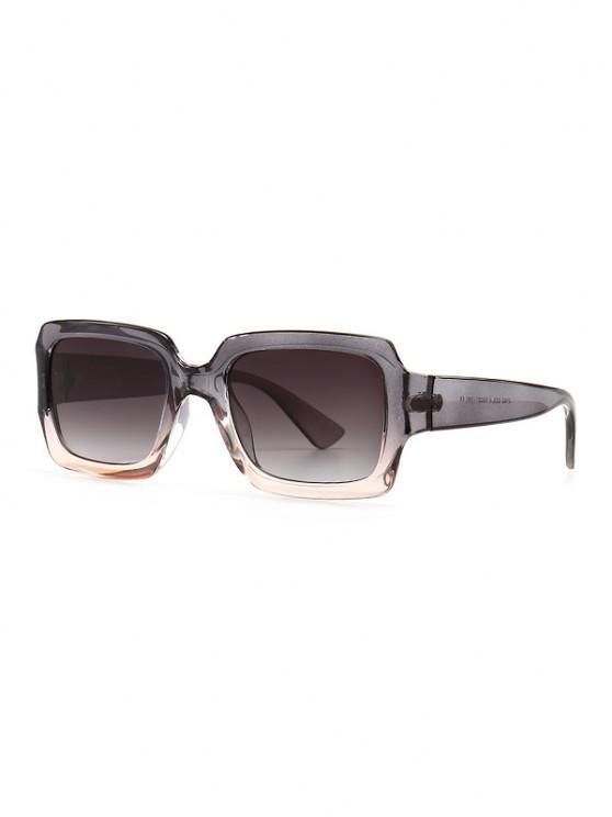 outfit Retro Gradient Rectangle Sunglasses - GRAY CLOUD