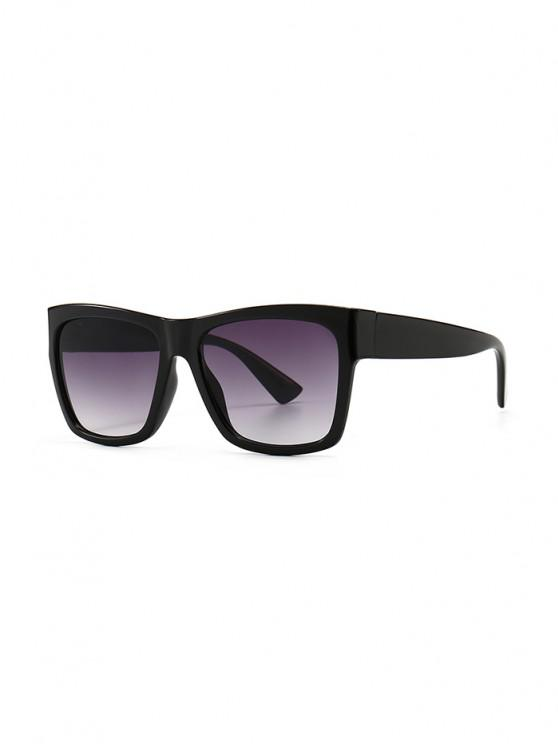 Ombre Color Retro Anti UV Sunglasses - أسود
