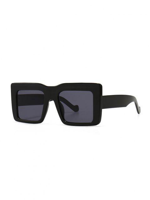 best Retro Wide Frame Square Sunglasses - BLACK  Mobile