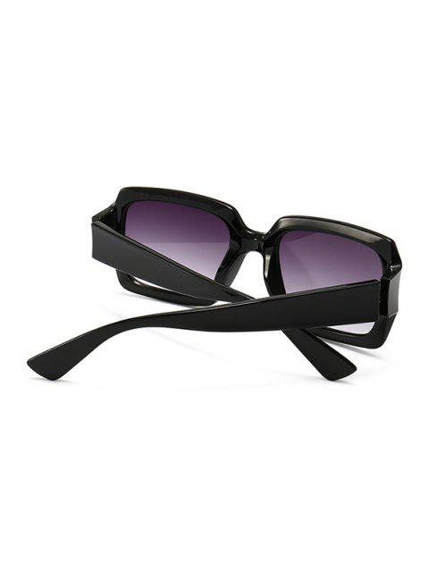 new Retro Gradient Rectangle Sunglasses - BLACK  Mobile