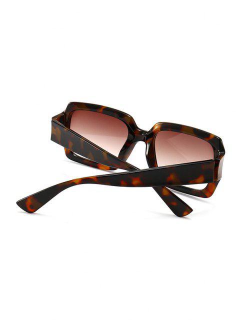 Óculos de Sol Retro de Retângulo Arredondado - Leopardo  Mobile