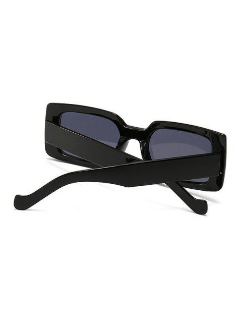 new Retro Wide Frame Rectangle Sunglasses - BLACK  Mobile