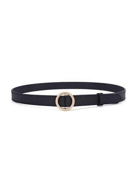 Cintura con Fibbia Rotonda - d'oro  Mobile