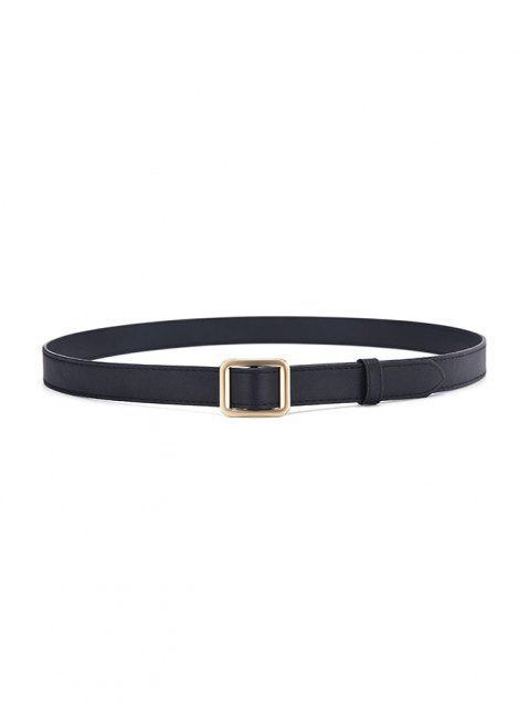 latest Minimalist Square Buckle Belt - GOLDEN  Mobile