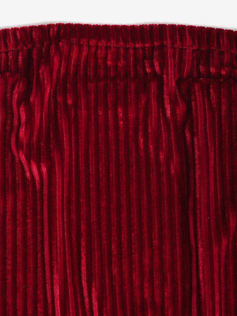 Party Vestito da Festa Aderente in Velluto - Rosso S Mobile