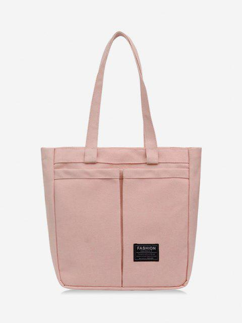 Sac Fourre-tout Lettre en Canevas - Rose Cochon  Mobile