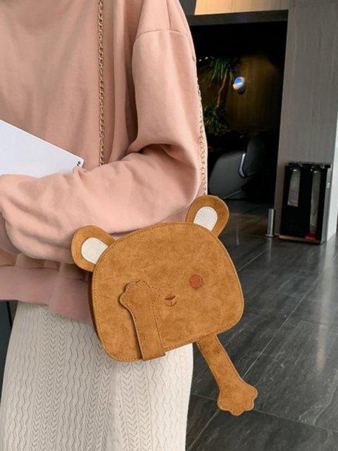 new Lovely Bear Shape Crossbody Bag - LIGHT BROWN  Mobile