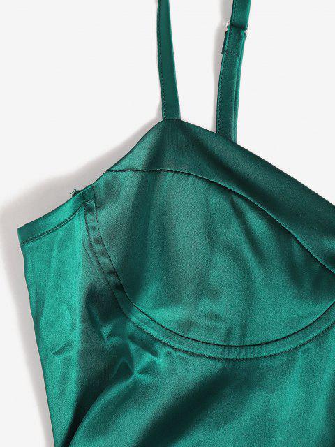 Mini Vestito Aderente - Verde intenso L Mobile