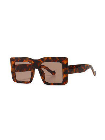 Retro Wide Frame Square Sunglasses - Leopard