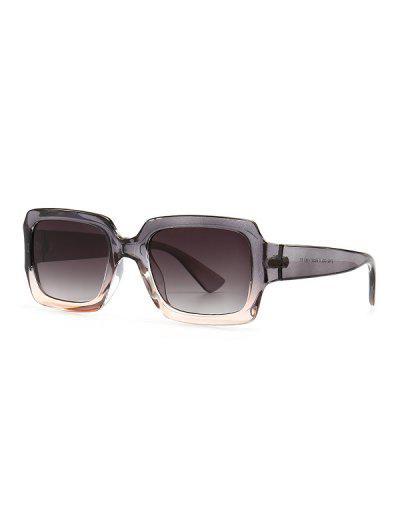 Retro Gradient Rectangle Sunglasses - Gray Cloud