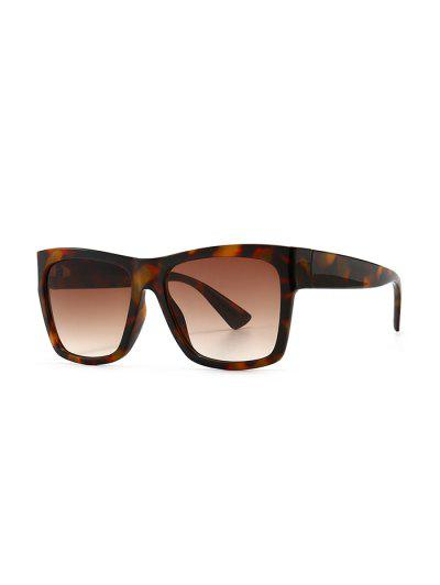 Ombre Color Retro Anti UV Sunglasses - Leopard