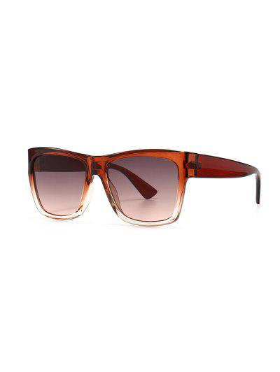 Ombre Color Retro Anti UV Sunglasses - Brown