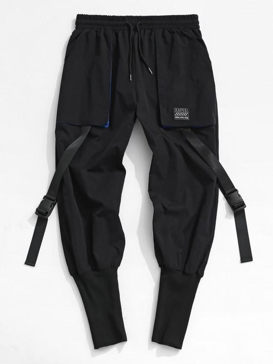 new Release Buckle Strap Cargo Pants - BLACK 2XL
