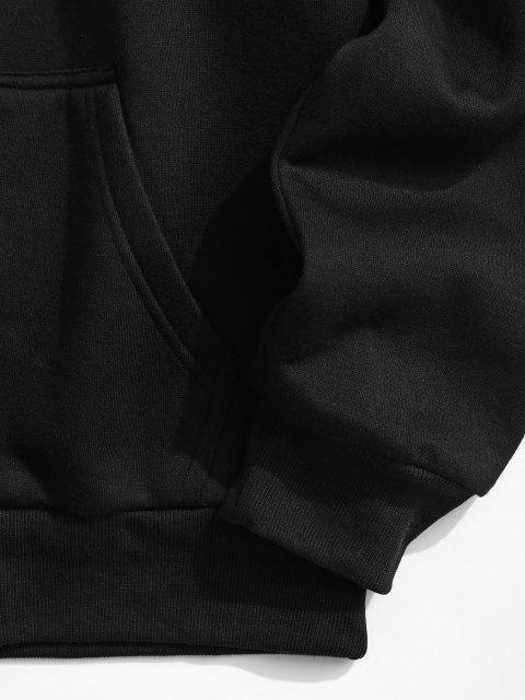 hot Fleece Lined New York Statue of Liberty Print Hoodie - BLACK 2XL Mobile