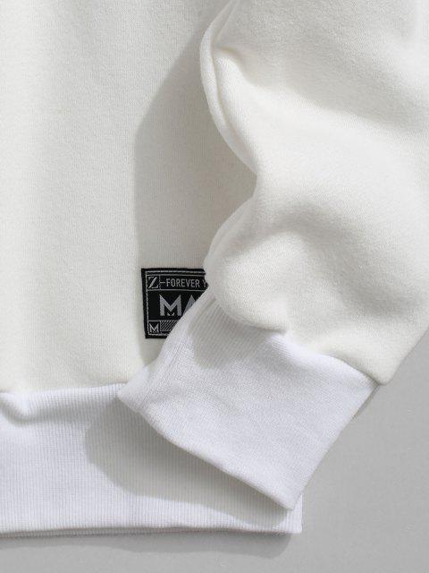 Sudadera Lana Estampado Letras - Blanco 2XL Mobile