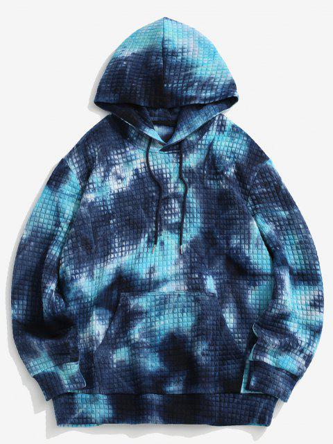 shops Front Pocket Tie Dye Hoodie - BLUE S Mobile