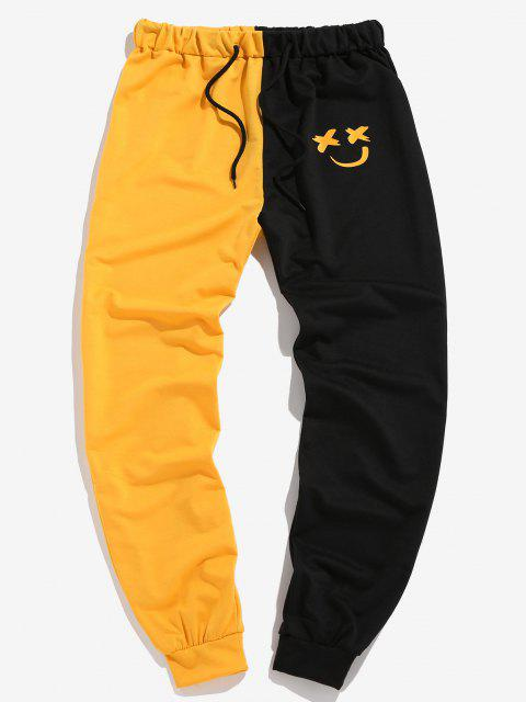 ZAFUL Zweifärbiges Lächeln Gesicht Tunnelzug Hose - Multi-D M Mobile