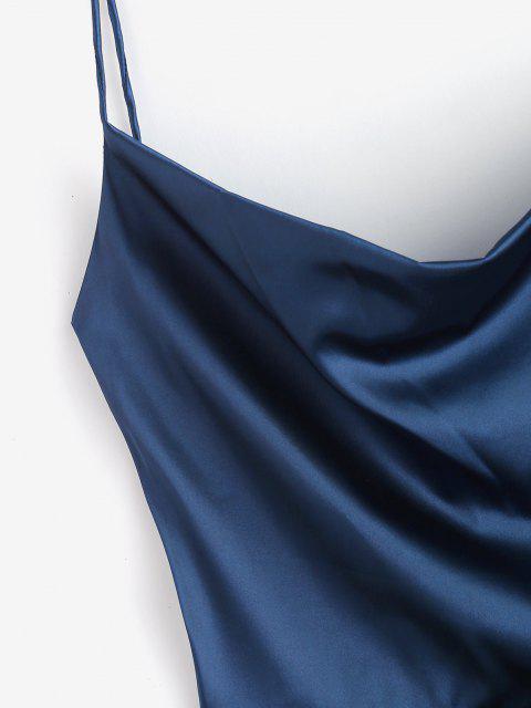 Abito Increspato con Spalline Annodate Sul Davanti Senza Schienale - Profondo blu L Mobile