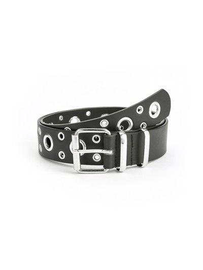 Punk Row Grommet Buckle Belt - Black