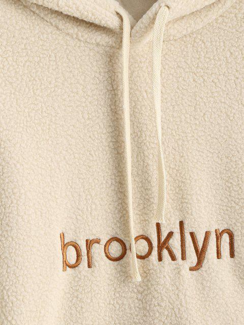 Sudadera con Capucha Brooklyn de Talla Grande con Bordado - café luz Talla única Mobile