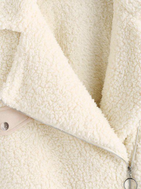 ZAFUL Abrigo Teddy de Piel Sintética - Blanco Cálido M Mobile