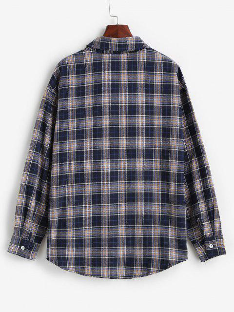 Camisa Bolsillo a Cuadros - Azul de Pizarra Oscuro L Mobile