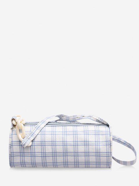 women's Retro Plaid Print Crossbody Bag - MILK WHITE  Mobile