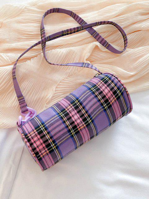 Retro Plaid Print Crossbody Bag - خبازي  Mobile