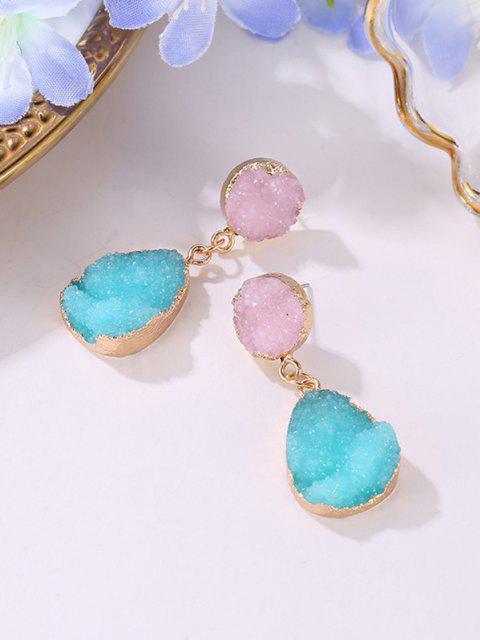 latest Teardrop Faux Crystal Drop Earrings - GOLDEN  Mobile